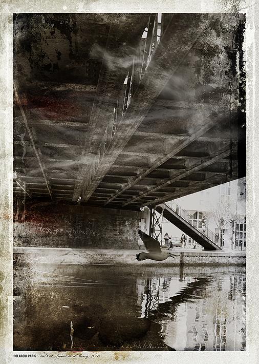 POLAROID PARIS - 64/2011-Canal de L'Ourcq, 75019