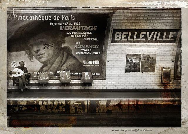 POLAROID PARIS - 75/2011-Metro Belleville